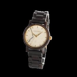 Feinsinn (Leadwood/Marmor) - Holzkern Uhr