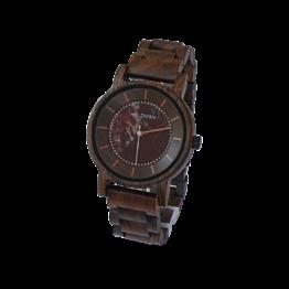 Ferdinand (Leadwood/Marmor) - Holzkern Uhr