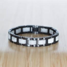 Forte (Marmor/Grau) - Holzkern Uhr