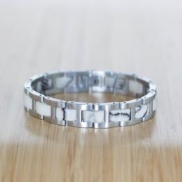 Forte (Marmor/Silber) - Holzkern Uhr