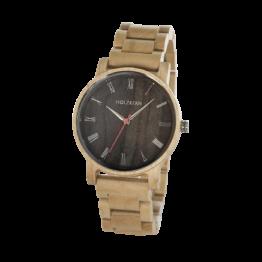 Frühlingsmorgen (Ahorn/Leadwood) - Holzkern Uhr