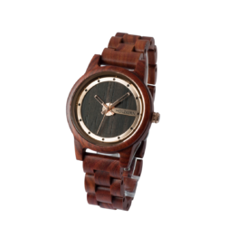 Fuji (Padouk/Leadwood) - Holzkern Uhr