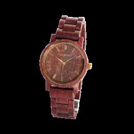 Gelassenheit (Amaranth/Amaranth) - Holzkern Uhr