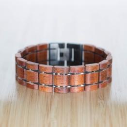 Grandezza (Mahagoni/Grau) - Holzkern Uhr