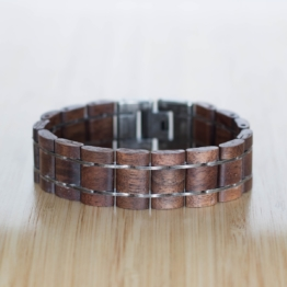 Grandezza (Walnuss/Antiksilber) - Holzkern Uhr