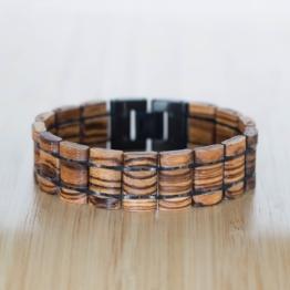 Grandezza (Zebrano/Schwarz) - Holzkern Uhr