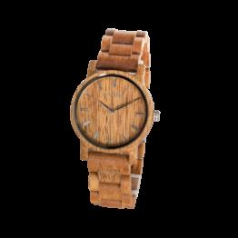 Heiterkeit (Mango/Mango) - Holzkern Uhr