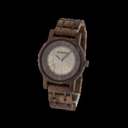 James (Walnuss/Jaspis) - Holzkern Uhr