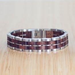 Kanon (Walnuss/Silber) - Holzkern Uhr