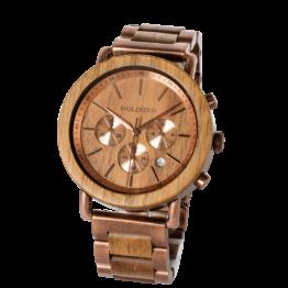 Kelvin (Marmorholz/Marmorholz) - Holzkern Uhr