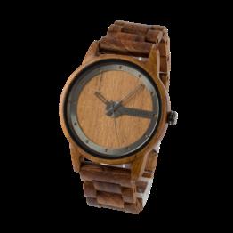 Kirk (Teak/Teak) - Holzkern Uhr