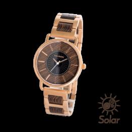 Korona (Wenge/Wenge) - Holzkern Uhr