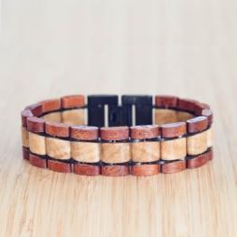 Largo (Mahagoni/Marmor) - Holzkern Uhr