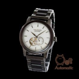Manhattan (Leadwood/Marmor) - Holzkern Uhr