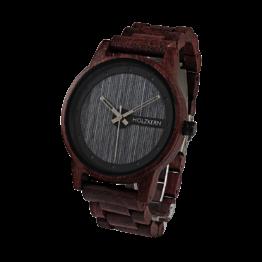 Matterhorn (Amaranth/Leadwood) - Holzkern Uhr