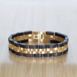 Menuett (Leadwood/Gold) - Holzkern Uhr