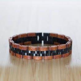 Menuett (Mahagoni/Schwarz) - Holzkern Uhr