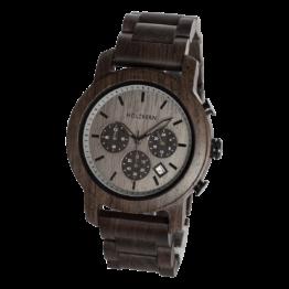 Nordwand (Leadwood/Felsgrau) - Holzkern Uhr