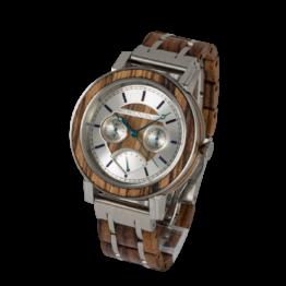 Palancar (Zebrano/Zebrano) - Holzkern Uhr