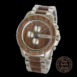 Parzival (Walnuss/Walnuss) - Holzkern Uhr