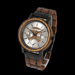 Raja (Teak/Teak) - Holzkern Uhr