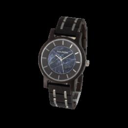 Roald (Wenge/Sodalith) - Holzkern Uhr
