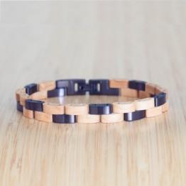 Rondo (Ahorn/Dunkelviolett) - Holzkern Uhr