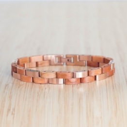 Rondo (Kirsche/Roségold) - Holzkern Uhr