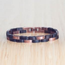 Rondo (Leadwood/Antikkupfer) - Holzkern Uhr