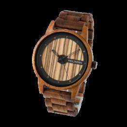 Roraima (Akazie/Zebrano) - Holzkern Uhr