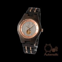 Rotkäppchen (Leadwood/Graueiche) - Holzkern Uhr