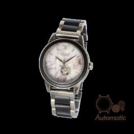 Paris (Leadwood/Marmor) - Holzkern Uhr