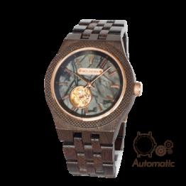 Sokrates (Wenge/Marmor) - Holzkern Uhr