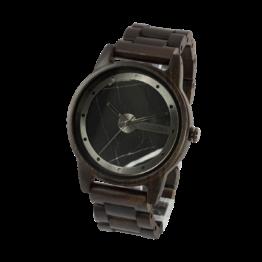 Stetind (Leadwood/Marmor) - Holzkern Uhr