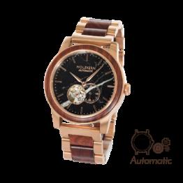 Sydney (Padouk/Marmor) - Holzkern Uhr