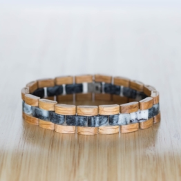 Terzett (Eiche/Marmor) - Holzkern Uhr