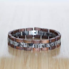 Terzett (Walnuss/Marmor) - Holzkern Uhr