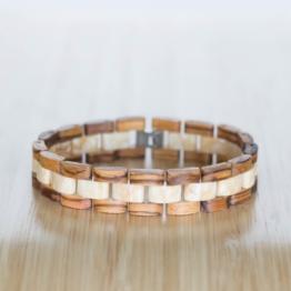 Terzett (Zebrano/Marmor) - Holzkern Uhr