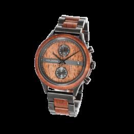 Tower (Mahagoni/Mahagoni) - Holzkern Uhr