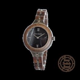 Vision (Walnuss/Marmor) - Holzkern Uhr