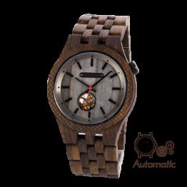 Zenon (Leadwood/Marmor) - Holzkern Uhr