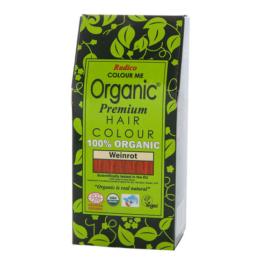 Radico Organic Pflanzenhaarfarbe 100 g, weinrot