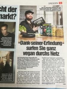 VeggieSearch in der Dresdner Morgenpost