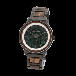 Asturias (Leadwood/Marmor) - Holzkern Uhr