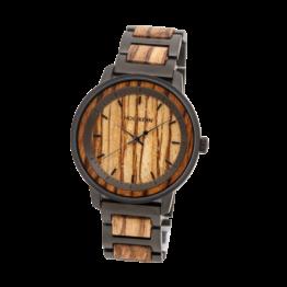 Napa (Zebrano/Zebrano) - Holzkern Uhr
