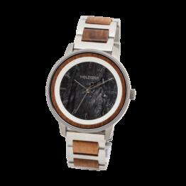 Provence (Walnuss/Marmor) - Holzkern Uhr
