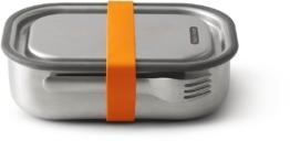 black+blum Lunchbox, Edelstahl, mit Silikon-Ventil, Gabel und Gurt