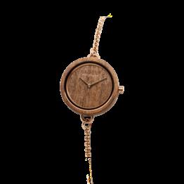 Leave (Walnuss/Walnuss) - Holzkern Uhr