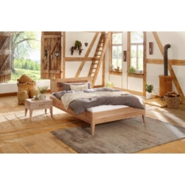 Premium Collection by Home affaire Wildeiche Massivholz-Bett Maximus Vegan und Metallfrei Allergiker geeignet, wildeiche