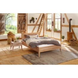 Premium Collection by Home affaire Wildeiche Massivholz-Bett Maximus Vegan und Metallfrei Allergiker geeignet, wildeiche